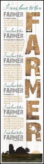 BORN TO BE A FARMER-WHITE