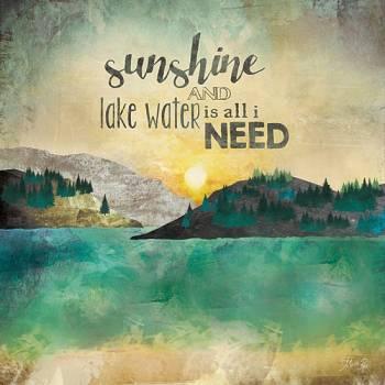 SUNSHINE AND LAKE WATER